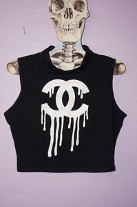Image of Dripping Chanel Crop Top