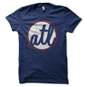 Image of Atlanta 'ATL' Circle Graphic T-Shirt - Home of the Brave 2.0