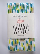 Image of *Limited Edition* Paint Me tea towel in taupe/blue/turquoise/yellow