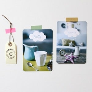 Image of Cartes Hello & Merci photo