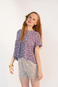Image of Squiggle Linen Shorts