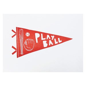 Image of Play Ball Pennant print