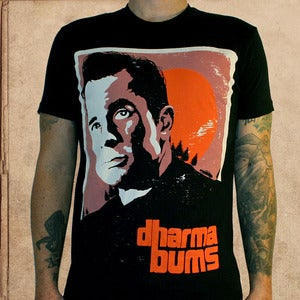 Image of Dharma Bums - black - discharge inks - unisex