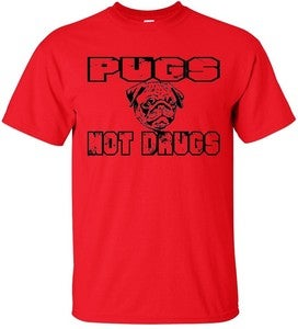 Image of PUGS NOT DRUGS T-SHIRT