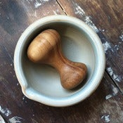 Image of Stoneware Mortar &amp; Pestle