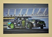 Image of ***SOLD OUT*** 24x16in Wrapped Canvas of Monster Energy Nitto Tire 2014 Mustang RTR in Action 