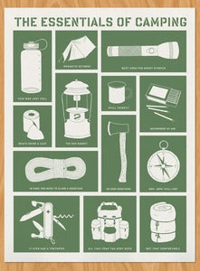 Image of The Essentials of Camping Screenprint