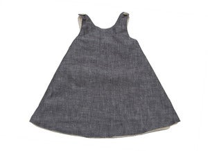 Image of Blue Linen Pinafore