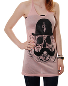Image of Skull | Tank Dress| Heather Pink