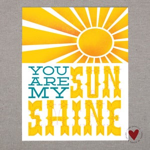 Image of You Are My Sunshine — 8x10 Print