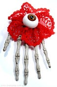 Image of Skelehand Eyeball & Rosette Hair Clips