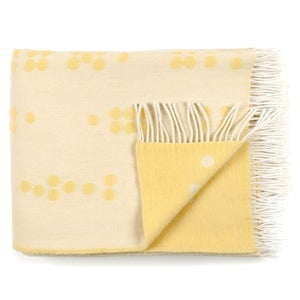 Image of Wool throw, Dot yellow