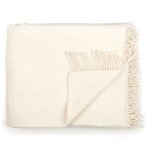 Image of Wool throw, Dot offwhite