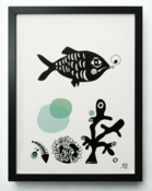 "Image of ""Fish"" (Black/Blue)"
