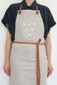 Image of Apron- Flax linen with leather straps