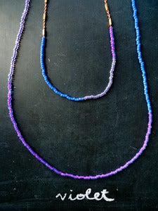 Image of Violet Golden Lining Beads