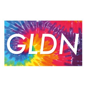 Image of GLDN Box Logo Sticker in Tie Dye