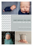 Image of Peahead Prints: Simply Stated Birth Announcement Template 3