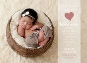 Image of Peahead Prints: Simply Stated Birth Announcement Template 4