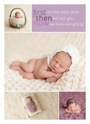 Image of Peahead Prints: Simply Stated Birth Announcement Template 5