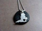 Image of  Tiny England Necklace (sterling silver)
