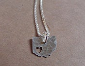 Image of  Tiny Ohio State Necklace (sterling silver)