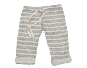 Image of Blue Striped Gauzy Beach Pants
