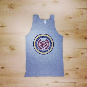 Image of The Crest Tank Top (Unisex-Athletic Gray)