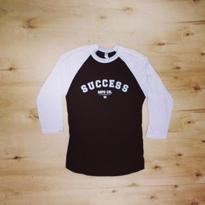 Image of The Simple baseball tee (Unisex-Black)