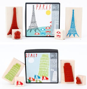 Image of City Rubber Stamp Sets 