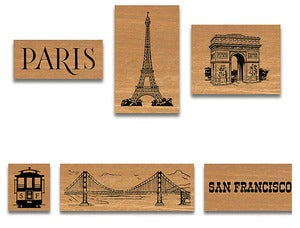 Image of City Rubber Stamp Set (in tin)
