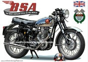 Image of 1962_BSA_Gold_Star_500_clubman_motorcycle_poster
