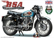 Image of 1962_BSA_Gold_Star_500_clubman_Nutely_Blue_motorcycle_poster