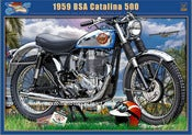 Image of BSA_Santa_Catalina_grand_prix_500_motorcycle_print