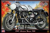 Image of Norton_Atlas_Manx_cafe_racer_motorcycle_prints_poster