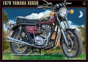 Image of Yamaha_xs650_gaston_vanzet_motorcycle_art_print
