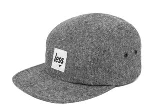 Image of LESS - Square Logo Camp Cap(Black)