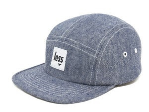 Image of LESS - Square Logo Camp Cap(Indigo)