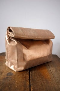 Image of ADAÏSM duotone metalic leather paper bag
