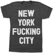 Image of NEW YORK FUCKING CITY (BLACK)