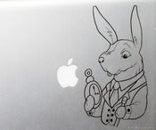 Image of White Rabbit from Alice in Wonderland Vinyl Decal