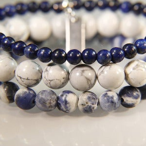 Image of N E W    S T A C K S!  Set of 3 bracelets to stack with your other JK pieces - Lapis