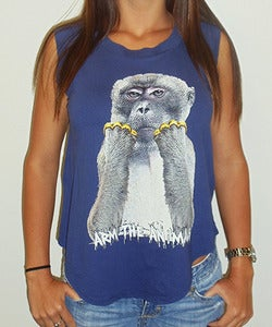 Image of Girls | Brass Monkey | Cap Sleeve Crew | Ultra Violet