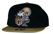 Image of New Orleans Saints Two Tone Big Logo Snapback Hat Cap