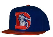 Image of Denver Broncos Two Tone Big Logo Snapback Hat Cap