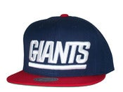 Image of New York Giants Two Tone Big Logo Snapback Hat Cap