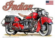 Image of 1947_Indian_Chief_1200_ Classic_motorcycle_poster_print