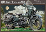 Image of Harley_Davidson_WLA_despatch_rider_WW2_motorcycle_poster