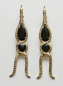 Image of Zig Zag snake earrings by Gonzalo Cutrina