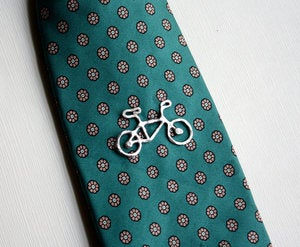 Image of Sterling Silver Bike Tie Tack/Lapel Pin